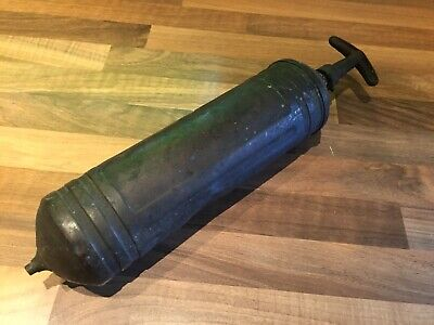 Vintage Brass Ships Bulkhead Fire Extinguisher Maritime Marine Nautical