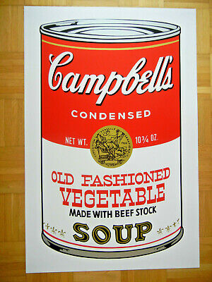Sunday B Morning nach Andy Warhol Campbell's Soup Can II Lim. Old Fash Vegetable
