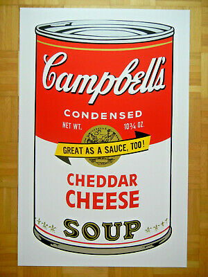 Sunday B Morning nach Andy Warhol Campbell's Soup Can II Lim. Cheddar Cheese