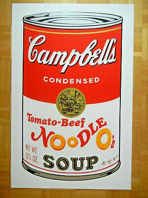 Sunday B Morning nach Andy Warhol Campbell's Soup Can II Limitiert Tomato Beef