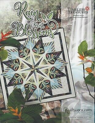 Rain Forest Blossoms NEW for 2019 Paper Piecing Pattern by Judy Niemeyer