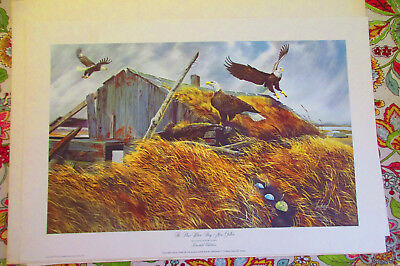 "Lot of 6 Vntg Wildlife Bird Prints Larry Toschik Signed Limited Editions 32""x22"""