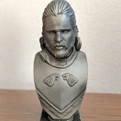 3D Printed Jon Snow Bust Game of Thrones Approx 5 inch UNPAINTED
