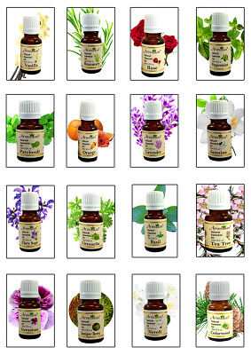 100% Natural Organic Essential Oils Pure UK - Aroma Therapy & Diffuser Oils 10ml