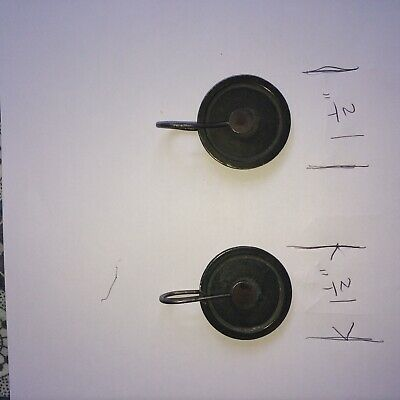 Antique Grandfather/ a good pair of 1.1/2in Longcase Clock Pulleys