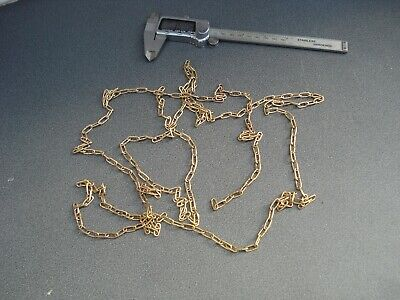 Solid Brass Clock Chain 30 Lpf 100 Inches Long Parts Spares