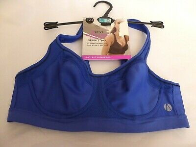 Marks & Spencer 36A new iris blue Extra High Impact underwired sports bra