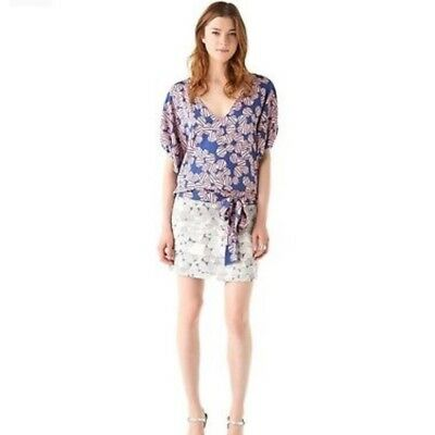 6159e3bd4a35 NEW DIANE VON Furstenburg Rose Mixed Print Silk Tunic Dress-Multi ...