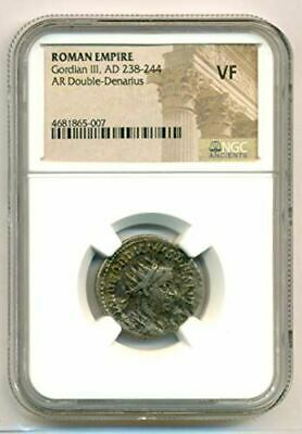 Roman Empire Gordian III AD 238-244 AR Double Denarius rv Fortuna VF NGC