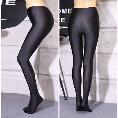 Sexy Women Shiny Glossy Oil Shimmer Tights Stockings Pantyhose Hosiery Plus Size