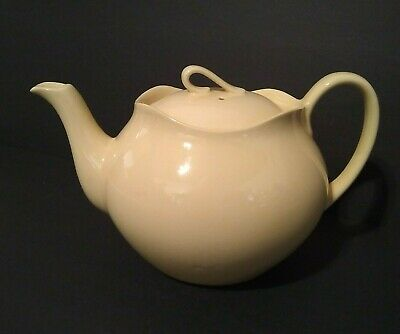 "Vintage MCM Johnson Bros. Teapot Made In England, Butter Yellow 5"" H, 7"" W..."