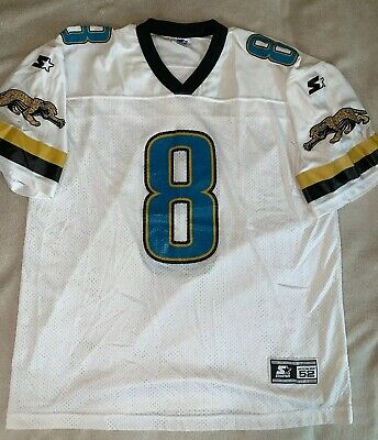 95a285c4 VINTAGE STARTER JAGUARS Mark Brunell #8 Football Jersey Men's XL 52 NFL