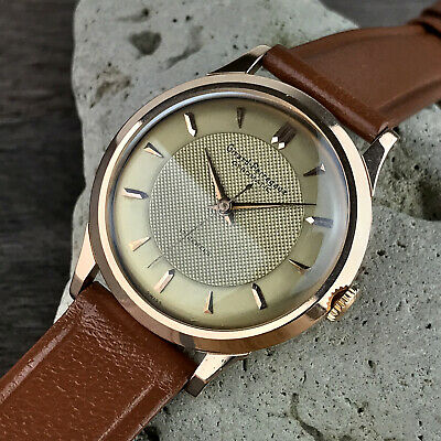 GIRARD PERREGAUX GYROMATIC 18k SOLID GOLD AUTOMATIC MEN'S WATCH Ca.50's