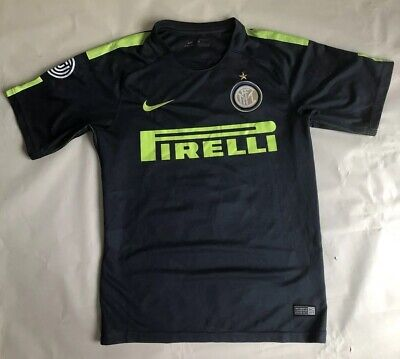 217a7540 NIKE INTER MILAN PIRELLI SOCCER JERSEY (THUNDER BLUE/VOLT) Size Small