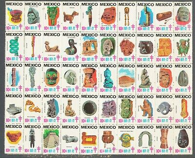 Mexican stamps 1971-1972 celebrate Pre-columbian Heritage