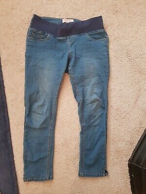 46fbcb21bb4f5 Dorothy Perkins Maternity Cropped Jeans Summer 8 Under Bump Blue trousers