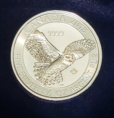 2018 Canada Snowy Owl $8 Silver .9999 Sold out from Mint!