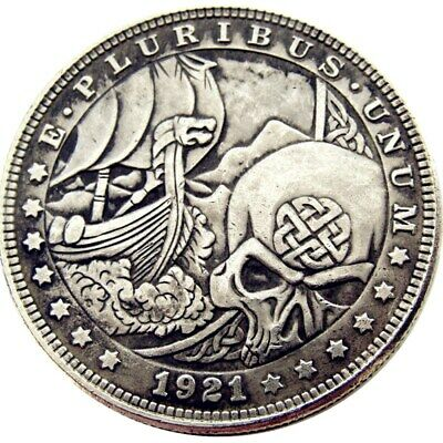 Hobo Nickel Morgan Dollar Coin For Collectors 1921 Sinister Dead From Hell Devil