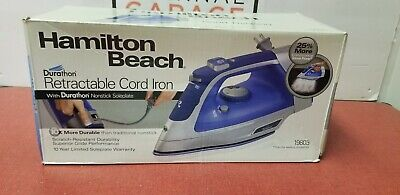Hamilton Beach Durathon Nonstick Soleplate Iron with Retractable Cord Iron