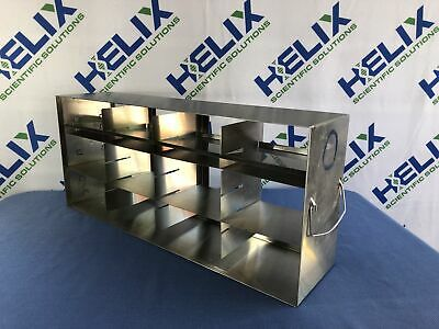 "Stainless Steel Freezer Rack L 22.25""x W 5.5""""x H 9.75"" -12 adjustable shelves"