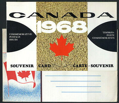 1968 CANADA SOUVENIR COLLECTION CARD 10 --- first large card + original envelope