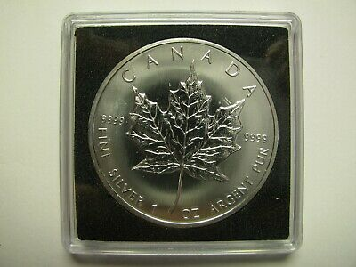 2003 Bullion $5 1 oz .9999 Silver Maple Leaf SML Canada five dollars