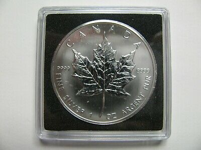 2005 Bullion $5 1 oz .9999 Silver Maple Leaf SML Canada five dollars