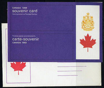 1969 CANADA SOUVENIR COLLECTION CARD 11 - rare sealed stamps + original envelope