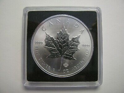2014 Bullion $5 1 oz .9999 Silver Maple Leaf SML Security Canada five dollars