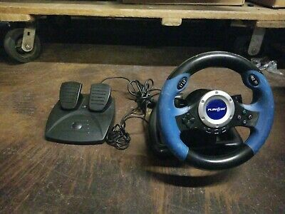 Play On Steering Wheel and Pedals for PlayStation 2
