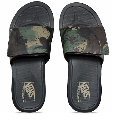 07c9a1fc2 Vans Nexpa Slides Sandals (Shore Camo) Black Mens Size 9 New Nwt Fast Ship