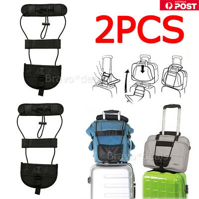 2X Travel Luggage Suitcase Adjustable Tape Belt Add A Bag Strap Carry Bungee NEW