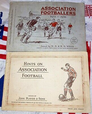 Cigarette Cards Association Footballers Hints On Association + Footballer 2 Sets