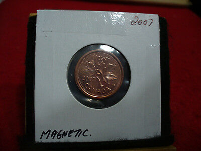 2007  Magnetic  Canada  1  Cent Coin  Penny  Proof Like  High  Grade  Sealed
