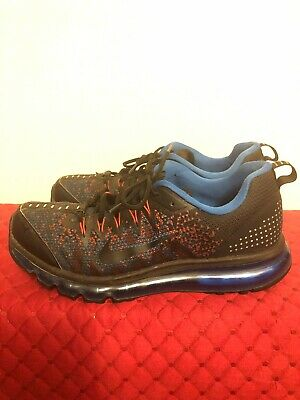 hot sale online f10c0 41b4e Nike Air Max 2015 Mens Size 10.5 - Black Orange Blue Running Shoes