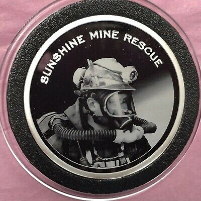 Extremely Scarce Sunshine Mine 1 Troy Oz .999 Fine Silver Round Medal Proof Coin