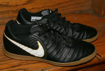 a18d023db Nike Tiempo X Rio IV IC Indoor Soccer Shoes Black White Mens Boys Size 7 EUC