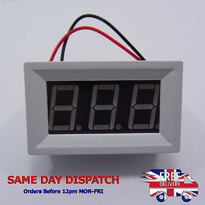 DC 48V Digital Panel Voltmeter Blue Indicator Alarm Shell 5V 12V 24V 36V F17