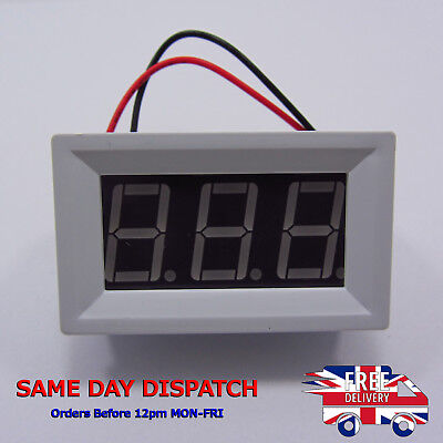 DC 48V Digital Panel Voltmeter Red Indicator Alarm Shell 5V 12V 24V 36V F18
