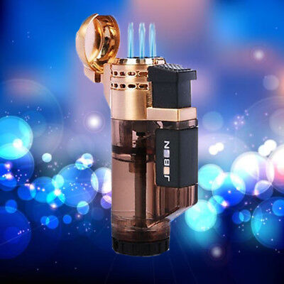 Brand Jobon Triple Jet  Flame Torch Lighter Refillable Butane Gas Cigar Lighter