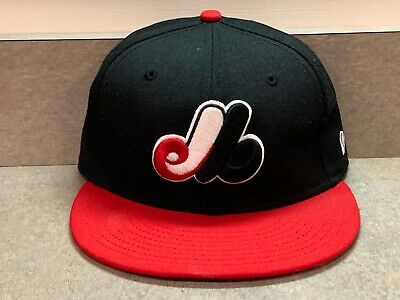 b4484c89f MONTREAL EXPOS NEW Era 59Fifty Cooperstown Collection Fitted Hat (Black /  Red)