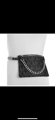 490f1f285b9b MICHAEL KORS FANNY Pack Belt MK Logo Bag 552744C Size XL Chocolate ...