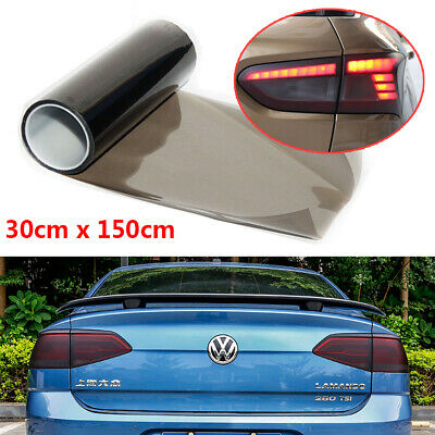 Light Smoke Black Tint Film Headlights Tail lights Car Vinyl Wrap 30cm x 150cm