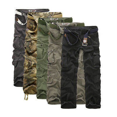 UK Mens Military Combat Trousers Camouflage Cargo Camo Army Casual Work Pants