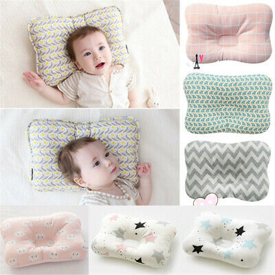 UK Newborn Baby Prevent Flat Head Anti Roll Infant Soft Cotton Pillow Positioner