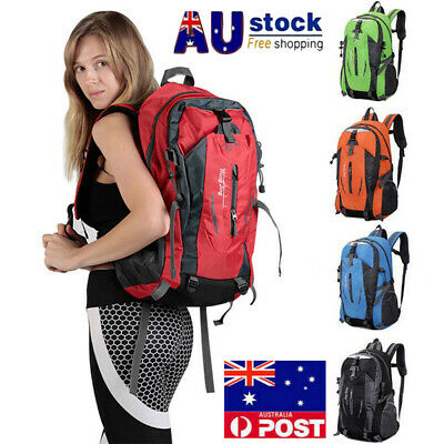 50L Unisex Rucksacks Backpack Waterproof Hiking Camping Trekking School Bag Pack