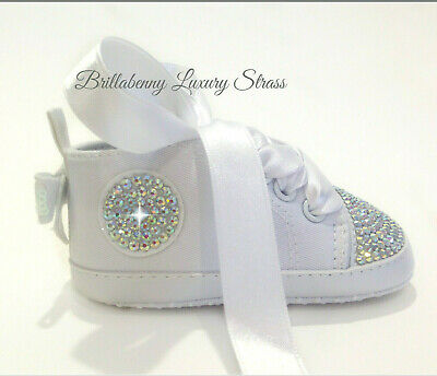 Converse All Star Baby Bianche Scarpe Shoes Wedding Infant Personalizzate