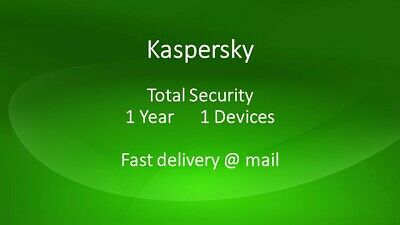 KASPERSKY TOTAL SECURITY 2018 2019 1 PC 1 year / EUROPE / 1 Device  Only key