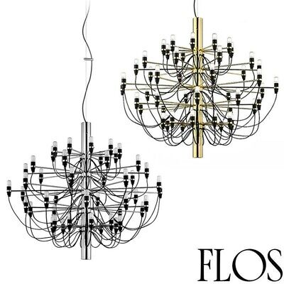 Flos 2097 30/50 light bulbs Suspension Pendant Chandelier chrome or brass by Gin