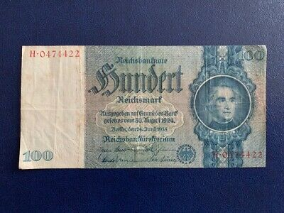 Germany - 100 Mark 1935 -  Nazi Era- Very Fine
